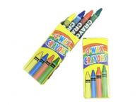 3 packs of 4 wax crayons(Code 0882)